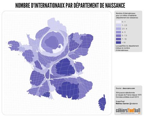 infographie équipe de France Bleus naissance département