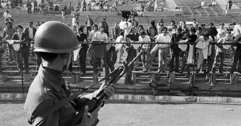 Chili-URSS 1974 Estadio Nacional Santiago