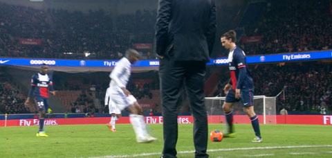 Laurent Blanc PSG-OL Ibrahimovic